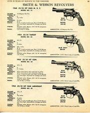 1968 Print Ad of Smith & Wesson S&W 1960 1953 1955 Kit Gun, 1953 Target Revolver