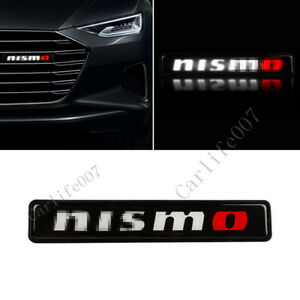 LED Car Logo Light Car Front Grille Badge Illuminated Decal Sticker for NISMO