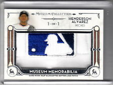 2014 Topps Museum Collection Henderson Alvarez Mlb Logo Jersey Patch 1/1 Logoman
