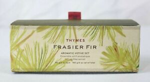 THYMES Frasier Fir Pine Needle Aromatic Candle Votives ~ Boxed Set of 3 NEW