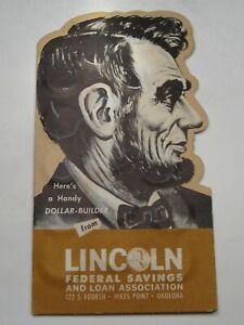 Vintage BANK Dime Savings Book Full w/ 30 Silver Dimes Lincoln Fed. OK.  #48