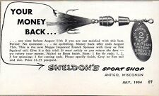 1954 Print Ad Mepps French Spinner Fishing Lures Sheldon's Antigo,WI
