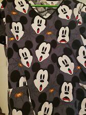 Mickey Mouse Disney Scrub Top 2Xl! Spider Surprise! Medical Dental Vet Tech 😷👌