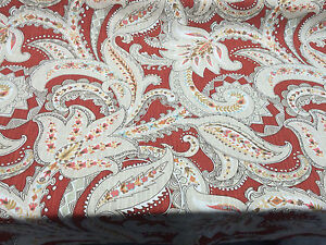 P Kaufmann Paisley Pop Spice Red Fabric By the Yard