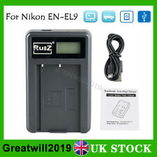 LCD USB Battery Charger For Nikon EN-EL9 D40 D40X D60 D3000 D5000 Camera UK