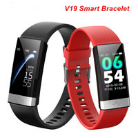 V19 ECG PPG IP68 Waterproof Blood Pressure Oxygen Heart Rate Monitor Smart Watch