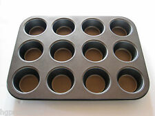12 CUP DEEP BUN SHEET.MUFFIN TRAY.YORKSHIRE PUDDING MINCE PIE TINS.N
