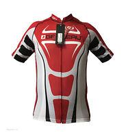 new Louis Garneau Vuelta Fondo carbon men's road cycling jersey full zip red blk