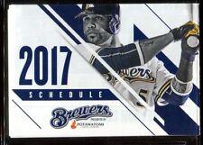 Schedule Baseball Milwaukee Brewers - 2017 - Ryan Braun