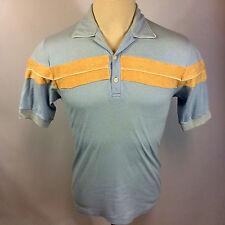 Vintage 70s California Polo Shirt Mod Retro Disco Dance Surf Sportswear M Beach