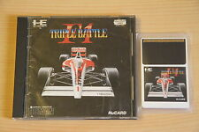 F1 Triple Battle Jeu NEC PC Engine Hucard import JAP cib