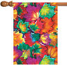 Toland Leaf Collage 28 x 40 Bright Colorful Fall Autumn Leaves House Flag