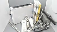 Nintendo Wii RVL-001 Console Gamecube Compatable Bundle With Games (Tested)