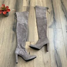 Stuart Weitzman Size 9 Highland OTK over the knee Thigh High Boots Taupe Gray