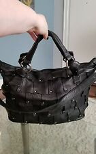 B Makowsky soft black leather large handbag