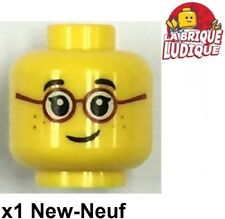 Lego - 1x minifig tête head enfant child smile glasses lunette 3626cpb1565 NEUF