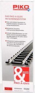 Piko H0 55202-S Gerades Gleis G119, Länge 119 mm (6 Stück) - NEU + OVP