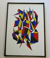 CONTEMPORARY MODERN PAINTING CUBIST CUBISM ABSTRACT EXPRESSIONISM HARD LINE EDGE