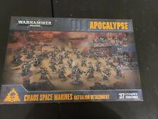 Chaos Space Marines Apocalypse battleforce, new in box, OOP, great starter. NIB