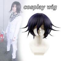 wig cap Anime Danganronpa V3 Ouma Kokichi Short Hair Cosplay Costume Full Wig