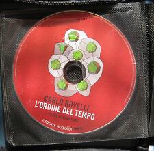 Audiolibro audiobook cd MP3 L'ORDINE DEL TEMPO  Carlo Rovelli usato