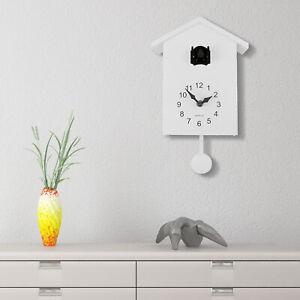 Walplus White Minimalist Cuckoo Clock Black Window Wall Clock 2-Year Warranty