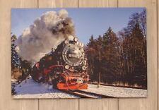 Leinwand Bild Lokomotive Brockenbahn Zug Natur Fotodruck Poster Wandbild