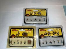 Woodland Scenics N Scale People Baseball Players 1 & 2, Shoe Shiners (3 Sets)