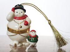 Lenox Snowman Trinket Box Ornament In Box