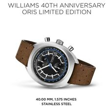 ORIS Williams 40th Anniversary Chronograph Limited Edition $6000 Selling In AU