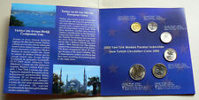 2005 Republic of Turkey New Turkish Circulation Coins Set Kurus Limited Edition