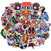 100Pcs Vinyl Marvel Superhero Stickers Pack Skateboard Luggage Laptop Decal Bomb