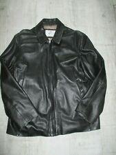 VALI Men's VINTAGE Jacket LEATHER Biker BOMBER Size XLARGE Black SOFT Leather