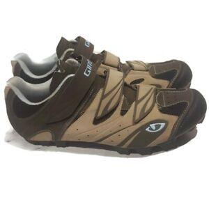 Giro Reva Women's Cycling Shoes Size 10.5 Khaki/Brown Suede