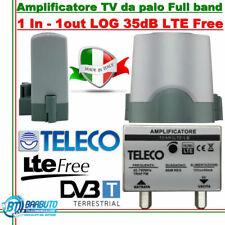 AMPLIFICATORE TV DA PALO 1 INGRESSO LOG  LARGA BANDA  35 dB TELECO TEAR3LB LTE