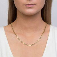 """10K Solid Gold 2.6mm Italian Figaro Chain Link Pendant Necklace 14""""-30"""""""