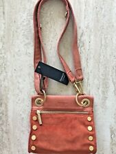 Hammitt VIP Clutch Soft Shoulder Crossbody Bag Flare Distressed Red Orange New