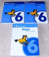 Horizons (6th grade) MATH 6 SET - Teacher's Guide & Student Workbook Books 1 & 2