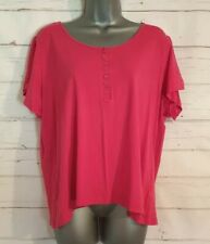 M&S LIMITED COLLECTION Size 22 Summer T Shirt Top RASPBERRY PINK Casual VGC