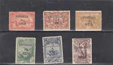 PORTUGUESE INDIA SET SURCHARGED (1914)   MH