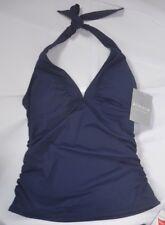 Athleta Dress Blue Shirrendipity Halter Tankini Top M Medium