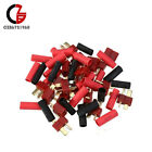 10/20/50Pairs T-Plug Connectors Deans Style Male Female +Shrink Tube For RC LiPo