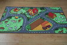 Large Animal Road Theme country Village Play Mat 164cm  x 94cm Kids Play Rug