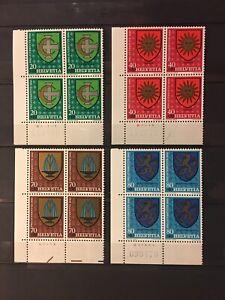 SUISSE/SCHWEIZ/SWITZERLAND. Pro Juventute 1980 x 4. Neufs**/MNH - SUPERB!