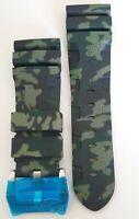 Kautschuk Armband für Panerai* in Camouflage 24mm und 26mm mit Schließe