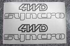 2 x 4WD Syncro Aufkleber in schwarz für VW Bus T2 T3