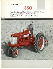 Ih Mccormick Farmall 350 With 2 Point Fast Hitch Tractor Color Brochure Ta Ipto