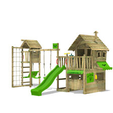 FATMOOSE CountryCow Maxi XXL Wooden Climbing Frame TreeHouse TowerSwing Slide