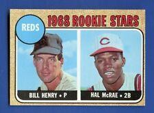 1968 Topps # 384 Hal McRae  RC  Cincinnati Reds  EX/MT  Additional ship free