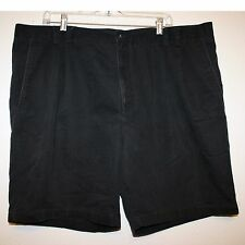 Men's Navy/Black Colored Zippered Front Pleated Shorts by St. John's Bay Size 44